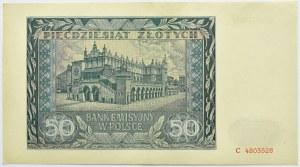 Polska, Generalna Gubernia, 50 złotych 1941, seria C