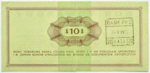 Polska, PeWeX, 10 dolarów 1969, seria FF