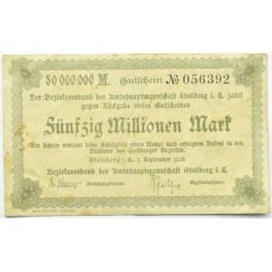 Stollberg (Saksonia), notgeld 50 milionów marek 1923
