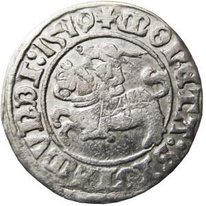 Zygmunt I Stary, półgrosz 1510, Wilno, przebitka 9/0