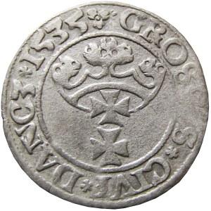 Zygmunt I Stary, grosz 1535, Gdańsk, BARDZO RZADKI