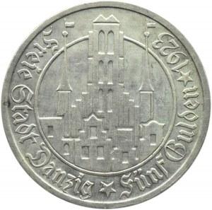 Wolne Miasto Gdańsk, 5 guldenów 1923, Kościół Mariacki, Utrecht