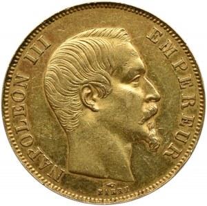 Francja, Napoleon III, 50 franków 1858 A, Paryż