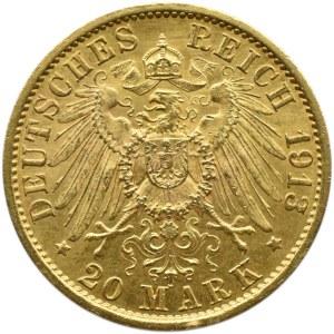 Niemcy, Prusy, Wilhelm II, 20 marek 1913 A, Berlin