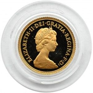 Wielka Brytania, Elżbieta II, 1/2 suwerena 1980, PROOF, UNC