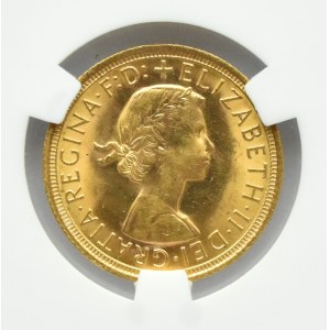 Wielka Brytania, Elżbieta II, suweren 1966, UNC - Gibon MS64