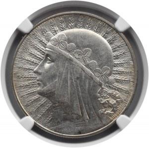 Polska, II RP, Głowa kobiety, 10 złotych 1932, NGC AU58, Warszawa