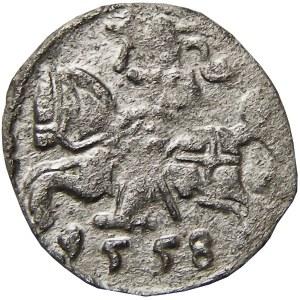Zygmunt II August, denar 1558, Wilno (R2)