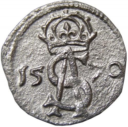 Zygmunt II August, dwudenar 1570, Wilno, piękny!