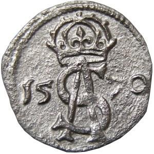 Zygmunt II August, dwudenar 1570, Wilno, piękny!! (49)