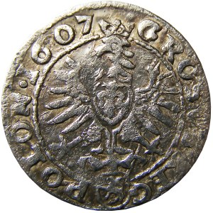 Zygmunt III Waza, grosz 1607 - popiersie, Kraków (73)