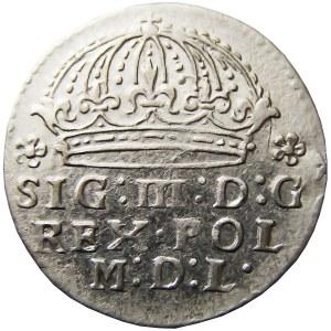 Zygmunt III Waza, grosz 1609, Kraków, bardzo ładny