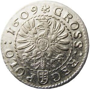 Zygmunt III Waza, grosz 1609, Kraków, bardzo ładny (76)
