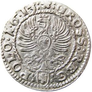 Zygmunt III Waza, grosz 1613, Kraków, bardzo ładny (77)