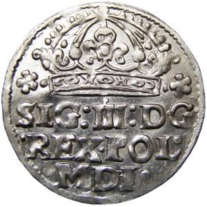 Zygmunt III Waza, grosz 1614, Kraków, PIĘKNY
