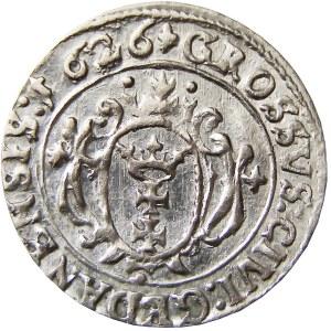 Zygmunt III Waza, grosz 1626, Gdańsk, Piękny