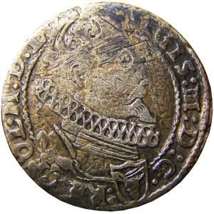 Zygmunt III Waza, szóstak 1625 herb półkozic, Kraków, R2! (92)