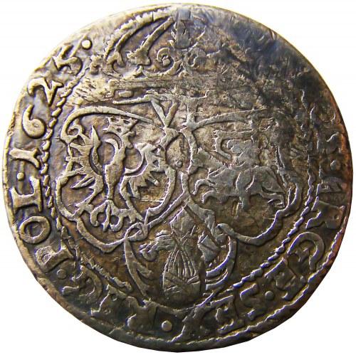 Zygmunt III Waza, szóstak 1625 herb półkozic, Kraków, R2!