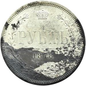 Rosja, Aleksander II, 1 rubel 1878 HF, Petersburg, piękny, ale!