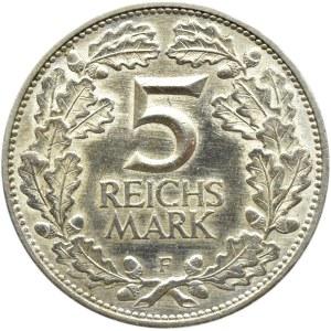 Niemcy, Republika Weimarska, Rheinlande 5 marek 1925 F, Stuttgart
