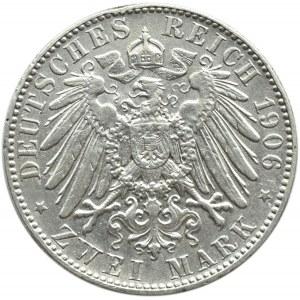 Niemcy, Saksonia, Fryderyk August, 2 marki 1906 E, Muldenhütten