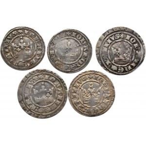 Czechy, Jan I Luksemburski (1310-1346), lot 5 groszy praskich, Kutná Hora