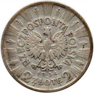 Polska, II RP, J. Piłsudski, 2 złote 1934, Warszawa