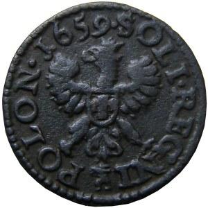Jan II Kazimierz, szeląg (boratynka) 1659 SOLI, Ujazdów, (R2)