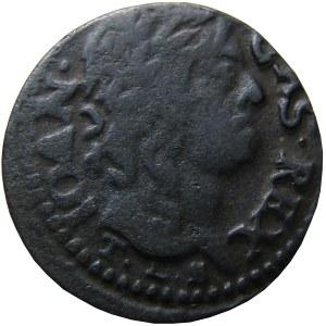 Jan II Kazimierz, szeląg (boratynka) 1659 SOLID, Ujazdów, (R3)
