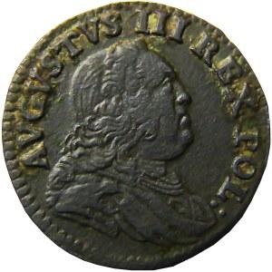 August III Sas, szeląg 1751, Grünthal