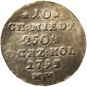 Stanisław A. Poniatowski, 10 groszy miedzianych 1792/3 M.W., Warszawa