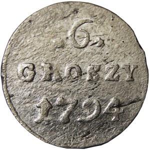 Stanisław A. Poniatowski, 6 groszy 1794, Warszawa