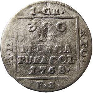 Stanisław A. Poniatowski, grosz srebrny (ćwierćłzłotek) 1768 F.S, Warszawa