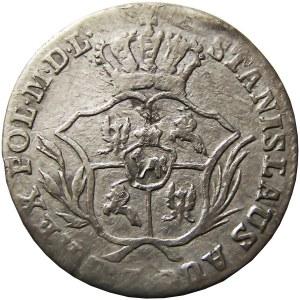Stanisław A. Poniatowski, 2 grosze srebrne (półzłotek) 1772 I.S., Warszawa (R2) (105)