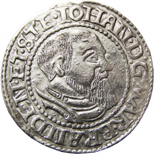 Śląsk/Marchia Brandenburska, Jan I Kostrzyński, grosz 1546, Kostrzyn