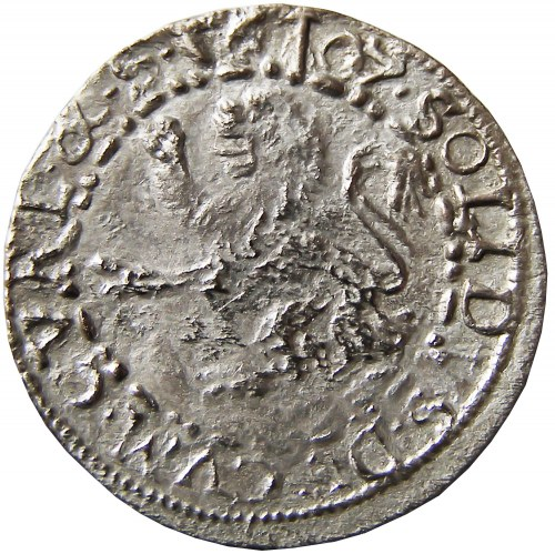 Kurlandia, F. i W. Ketlerowie (tytulatura Zygmunta III Wazy), szeląg 1607, Mitawa (R3)