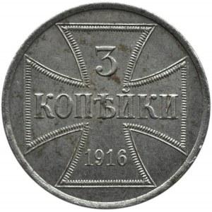 Królestwo Polskie, 3 kopiejki 1916 A, Berlin