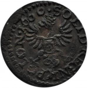 Jan II Kazimierz, szeląg (boratynka) 1660, Ujazdów, ładna