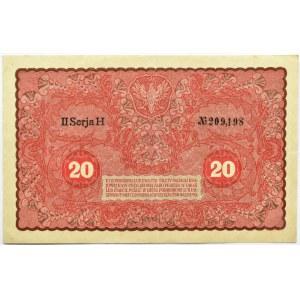 Polska, II RP, 20 marek 1919, II seria H