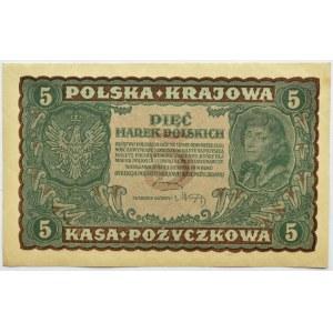 Polska, II RP, 5 marek 1919, II seria AS