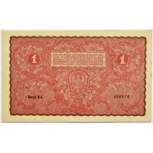 Polska, II RP, 1 marka 1919, I seria BA, UNC
