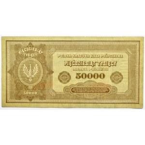 Polska, II RP, 50 000 marek 1922, seria X