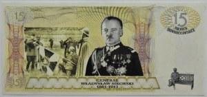 Banknot okolicznościowy, 15 Solnych Inowrocławskich, gen. W. Sikorski