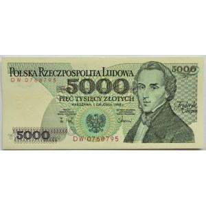 Polska, PRL, 5000 złotych 1988, seria DW, Warszawa, UNC