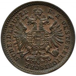 Austro-Węgry, Franciszek Józef I, 1 krajcar 1885, Wiedeń, UNC