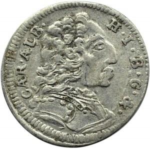Niemcy, Bawaria, Karol I Albert, 3 krajcary 1736, Monachium