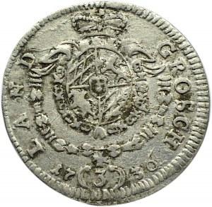 Niemcy, Bawaria, Karol I Albert, 3 krajcary 1736