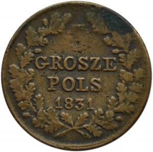 Polska, Powstanie Listopadowe, 3 grosze 1831 K.G., Warszawa, destrukt