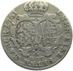 August III Sas, 1/6 talara (złotówka) 1763 EDC, Drezno