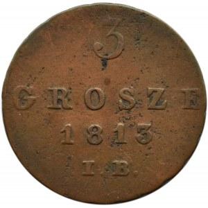 Księstwo Warszawskie, 3 grosze 1813 I. B., Warszawa